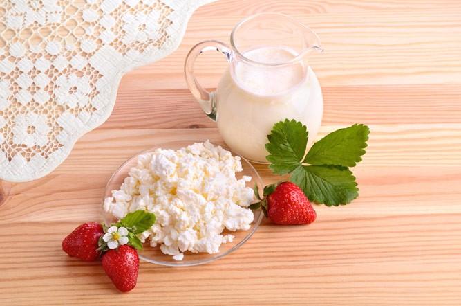 творог и йогурт
