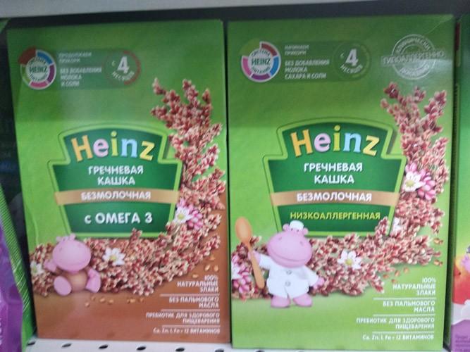 Кашка гречневая Heinz низкоаллергенная с 4 месяцев