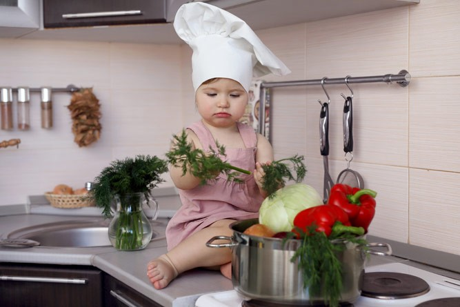 малютка с овощами
