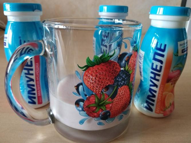 Питьевой йогурт для ребёнка в бакальчике