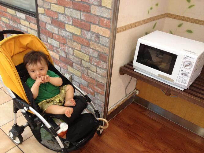 еда для малыша в микроволновке