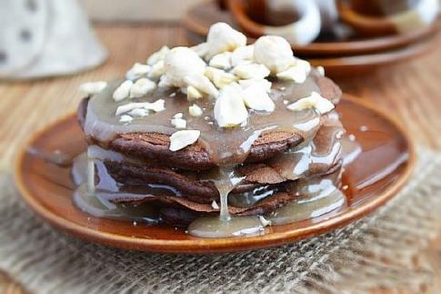 бананово-шоколадные блины