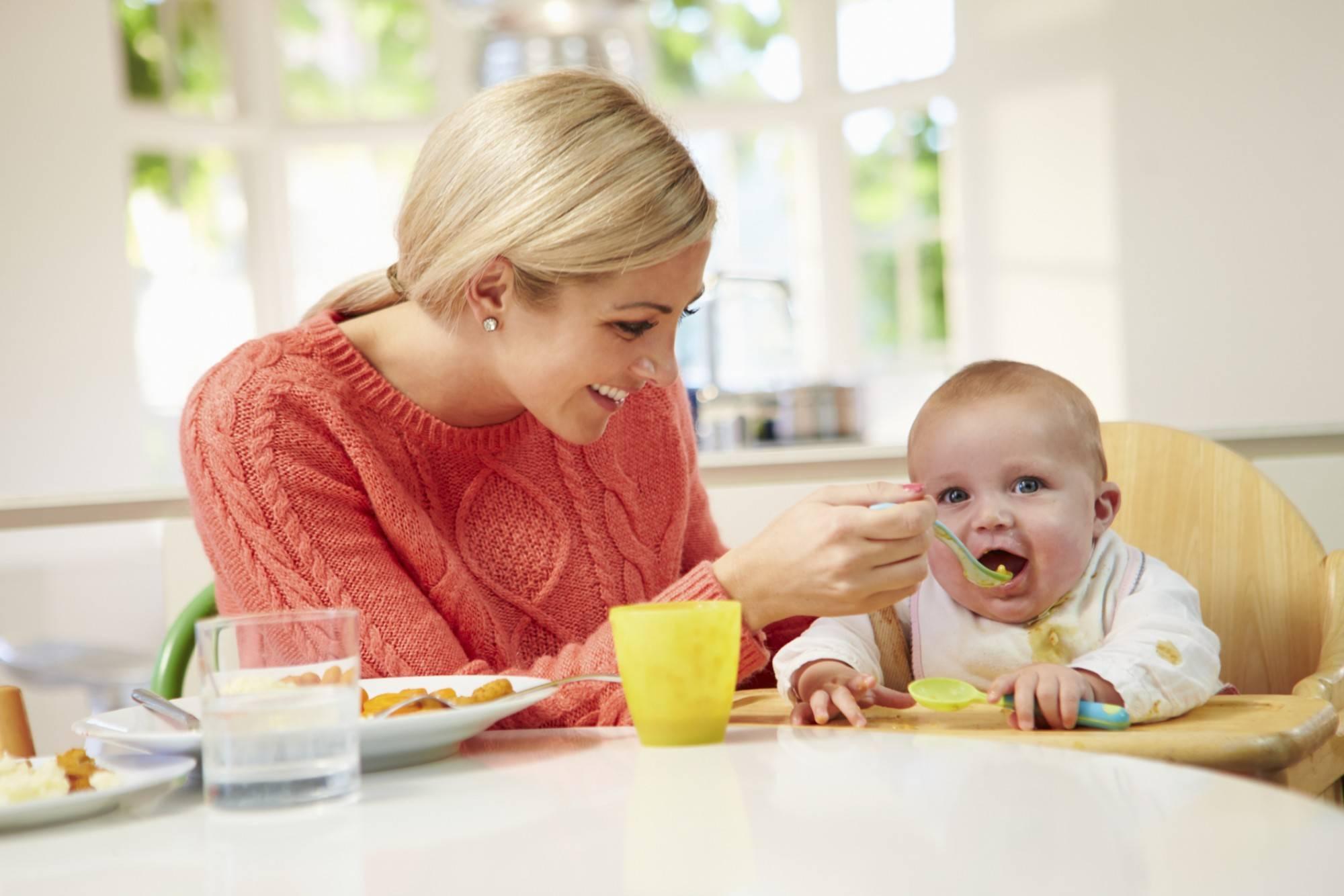 обед ребенка в 10 месяцев