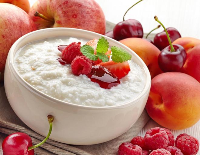 каша с фруктами для детей